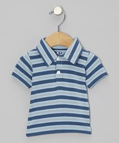 Take a look at this Twilight Stripe Short-Sleeve Polo - Infant, Toddler & Boys by KicKee Pants on #zulily today!