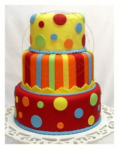 colorful! I absolutely LOVE the whole cake!