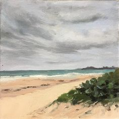 Cloudy Day Ocean Park Dune by Jules Smith Oil ~ 10 x 10