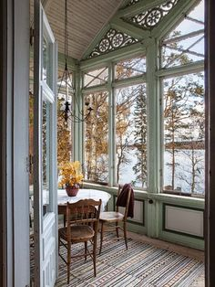 This is what Mark wishes he could look out and see outside the porch.... All that snow and evergreen trees