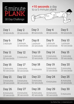 5 Minute Plank - 30 Day Challenge