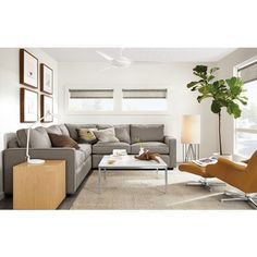 Modern Living Room Furniture - Room & Board Comfy couch.  Darker color might be good for Maggie.