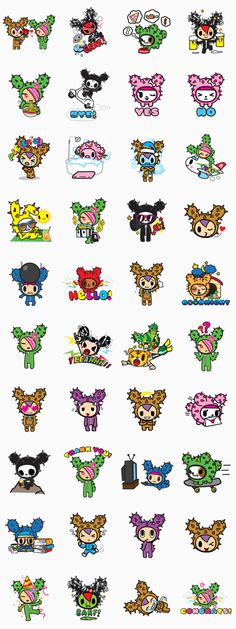 Spice up your conversations with these super cute stickers from the Japan-inspired LA art and design brand, tokidoki!