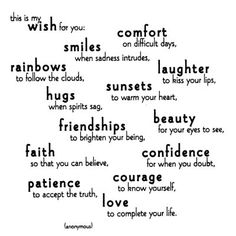 My wishes for you....
