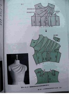 Darts on a bodice https://picasaweb.google.com/100149348211394693184/ChineseMethodOfPatternMakingDartsOnABodice