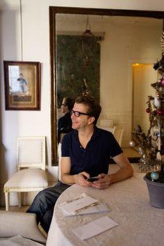 Decoupage artist, designer and shopkeeper, John Derian at home in New York