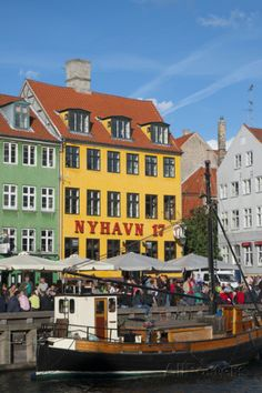 Crowds at Cafes and Restaurants, Nyhavn, Copenhagen, Denmark Photographic Print by Inger Hogstrom at AllPosters.com