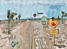 david hockney, pearblossom hwi, pearblossom highway, april 1986, museum, bigger pictur, artist, photo collages, photographi