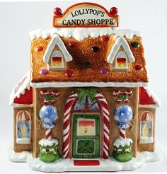 Lollipop and Gingerbread House Cookie Jar, Designed by Laurie Furnell