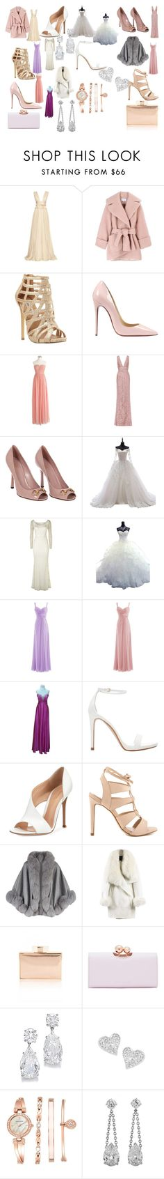 """""""Wedding Ideas #1"""" by tinanichols402 on Polyvore featuring Maria Lucia Hohan, Carven, Steve Madden, Christian Louboutin, J.Crew, Elie Saab, Gucci, Monsoon, Impression Bridal and Zara"""