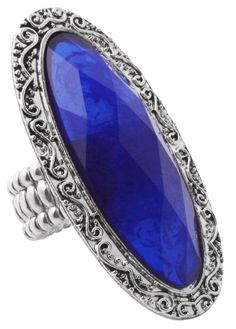 Bijou Brigitte  Ring - Blue Stone