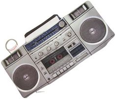 """PENCIL POUCH: 8-1/4"""" x 3-1/2"""" zippered cutie that looks like a small boombox"""