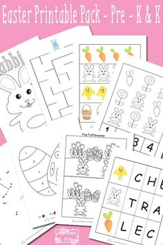 Easter worksheets for preschool and kindergarten easter activities for pres Easter Worksheets, Free Kindergarten Worksheets, Free Preschool, Easter Activities, Spring Activities, Preschool Activities, Printable Worksheets, Preschool Learning, Early Education