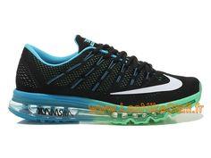 on sale 7dd90 d3362 Nike Air Max 2016 GS Chaussures Nike Pas Cher Pour Femme Noir Bleu Vert