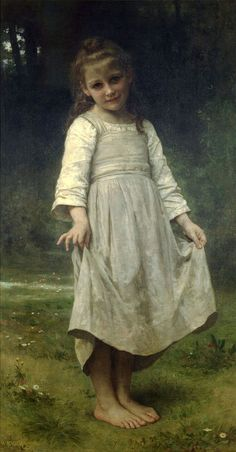"""The Curtsey (La révérence)"", 1898, William Adolphe Bouguereau."