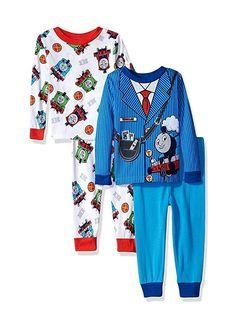 Thomas The Tank Engine Train Boys Pyjamas PJs Red Blue Long 18 24 2 3 4 5 Years