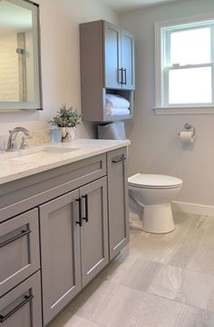 Guest Bathroom Remodel, Guest Bathrooms, Upstairs Bathrooms, Bathroom Renos, Bathroom Renovations, Small Bathroom Remodeling, Custom Bathrooms, Grey Bathrooms Designs, Bathroom Tile Designs