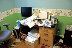 De-Cluttering Challenge- Feb 18 The Desk
