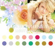 Light Spring color palette #coloranalysis