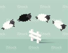 Vector file of jumping sheep. Free Vector Art, Vector File, Sheep Template, Sheep Illustration, Sheep Vector, Funny Pictures, Funny Pics, Image Now, Illustrators