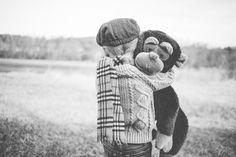 Baby boy photography monkey back n white