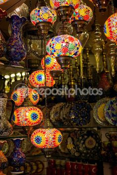 Traditional turkish lamps — Stock Image #57687315
