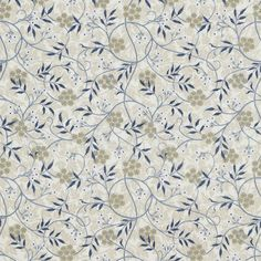 The Original Morris & Co - Arts and crafts, fabrics and wallpaper designs by William Morris & Company | Products | British/UK Fabrics and Wallpapers | Jasmine Embroidery (DMEM234553) | Woodland Embroideries
