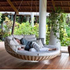 Oh my goodness. I would go porch camping and sleep on this. It's so amazing with these epic inventions!