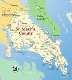 St. Mary's County, MD, where my ancestral grandfather arrived in 1663 as an inderntured servant.  Later owned land where the college now sits.