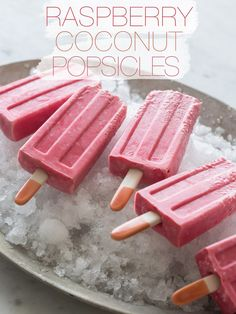 Raspberry Coconut Popsicles
