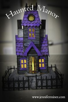 Tiny Haunted Manor created with Tim Holtz Dies and Supplies.