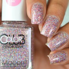 8.0AUD - Color Club - Jitters - Light Pink Silver Holographic Glitter Scented Nail Polish #ebay #Fashion
