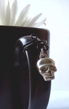 Dangle Skull Ear Cuff by PinkCupcakeJC on Etsy, $6.00