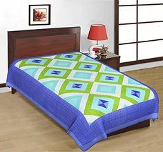 Odishabazaar Sanganeri Printed Cotton Single Bedsheet Bedcover in Multicolor Odishabazaar http://www.amazon.com/dp/B01CSG40OA/ref=cm_sw_r_pi_dp_4uQ5wb1FAANW1