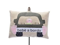 baby on board 100% cotton, hand made in italy