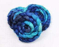 Alpaca/ Silk Roving  Handpainted Spinning Fiber by woolgatherings, $23.00