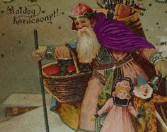 Santa Claus Holding the Infant Jesus Christ by KrisGoesPicken Victorian Christmas, Vintage Christmas Cards, Christmas Images, Baby Jesus, Old Postcards, Vintage Santas, Old World, Jesus Christ, Infant