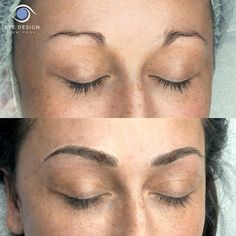 Impressive Before and After on eyebrows #microblading #makeup #cosmetictattoo