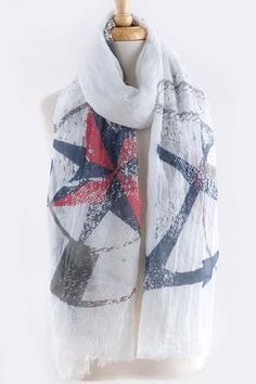 $17 nautical scarf  www.nvrmas.com