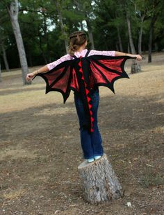 Dragon #Wings & Tail #Costume #Black Red Kids Age 2 to Adult,  View more on the LINK: http://www.zeppy.io/product/gb/3/206513350/