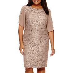 Scarlett Flutter-Sleeve Lace Dress - Plus - JCPenney