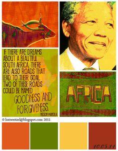Nelson Mandela Quote  Artwork by Lori Weitzel
