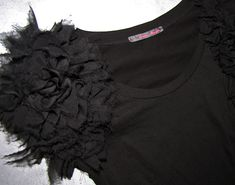 transform an ordinary tshirt into a stunning top with a little chiffon and a lot of creativity!