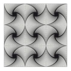 op art nine squares twist 2