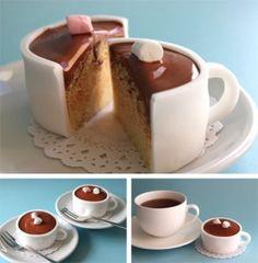 tarta fondant taza cafe