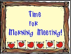 elementary organization: morning meeting breakdown. (similar to EveryDay Counts Calendar Math)