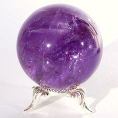 Brazilian Amethyst crystal ball......  I am a bit of a New Age girl...love my elements.