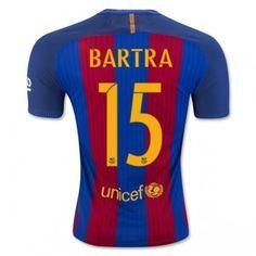 Barcelona 16-17 Marc Bartra 15 Hemmatröja Kortärmad  #Fotbollströjor