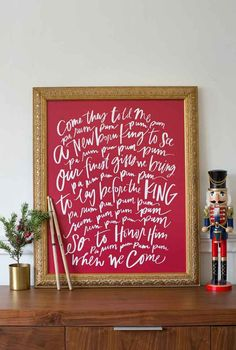 Red art - Little Drummer Boy Christmas canvas from Lindsay Letters.