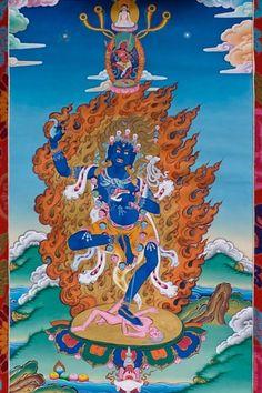 Troma Nagmo. Vajrayogini-emanations of Yeshe Tsogyal. Black Mother Vajra.